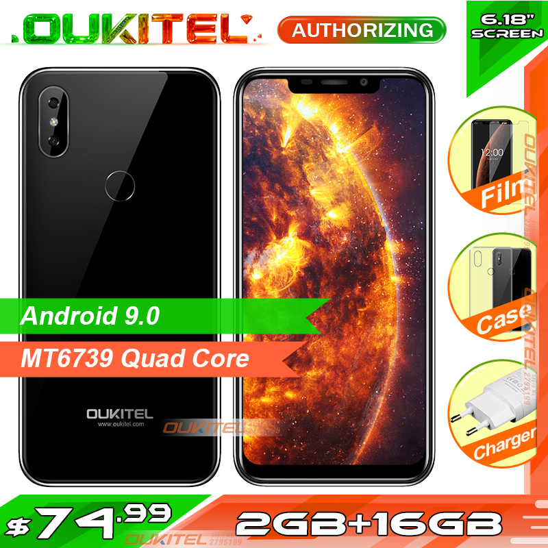 OUKITEL C13 Pro 6 18 Android 9 0 Mobile Phone Quad Core 2GB RAM 16GB ROM