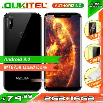 "OUKITEL C13 Pro 6.18"" Android 9.0 Mobile Phone Quad Core 2GB RAM 16GB ROM Fingerprint 5G/2.4G WIFI 4G LTE Smartphone Face ID"