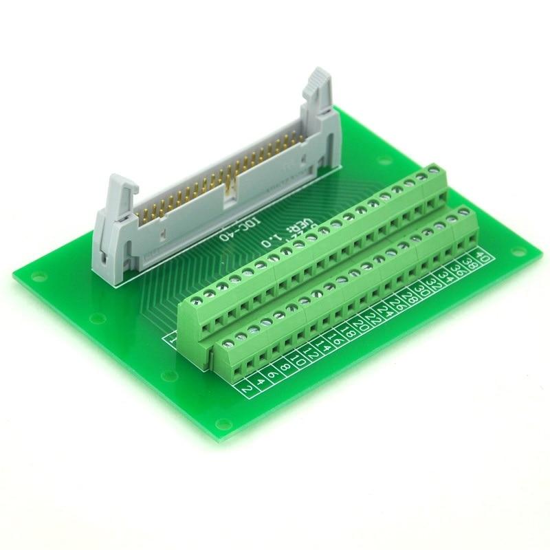 IDC40 2x20 Pins 0.1 Male Header Breakout Board, Terminal Block, Connector. бордюр mainzu cementine verde 2x20