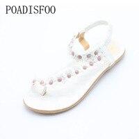 2016 New Summer Bohemian Sandals Shoes Flip Folder Toe Flat Shoes Plum Flops Flat Slippers Sandals