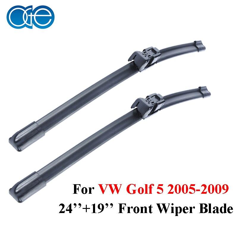 Dianteiro E Traseiro Wiper Arm Blades Combo da Borracha de Silicone Para VW Golf 5,2005 2006 2007 2008 2009, brisas Do Carro Acessórios