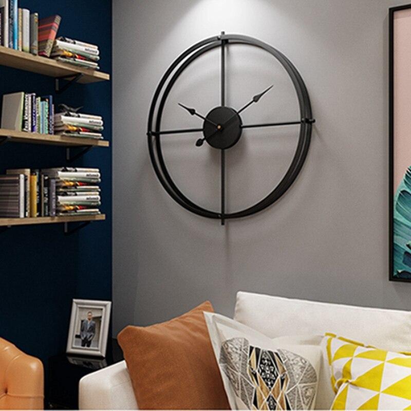 2019 bref 3d Style européen silencieux montre horloge murale Design moderne pour maison bureau décoratif suspendus horloges mur décor à la maison - 4