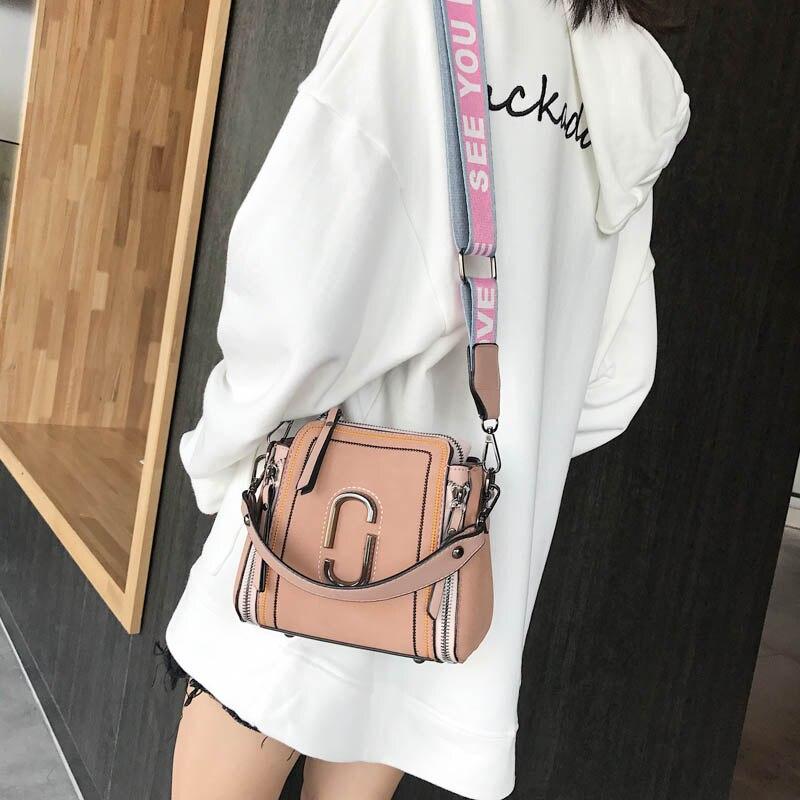 Women\'S Designer Handbag PU Leather Portable Bucket Bag Tote Shoulder Messenger Bags Sac