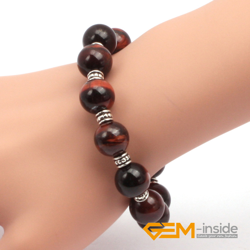 12mm 14mm red tiger eyes bracelet natural stone bracelet Guardian stone for Capricorn free shipping wholesale !