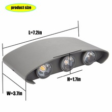 HuaXinV LED Wall Lights Outdoor, arc source 12W Warm Light Lights with Light Source, Install on IP65 Waterproof  wall lamps arts