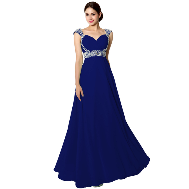 Sweet Charming Prom Dresses Sweetheart Crystal Beaded Backless Floor Length Chiffon Sequins Tiered Party Evening Gowns SD179