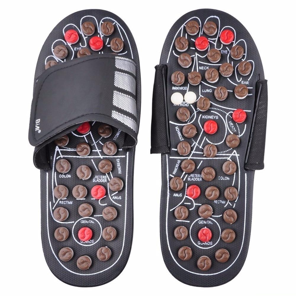 Healthy Care Product Foot Massage Slippers Health Shoe Sandal Massages Reflexology Feet Elderly Rest Pebble Stone Massager