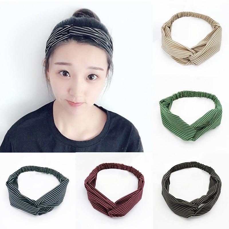 New Arrival Korean Style 1PC Elastic Striped Hairband Headband Turban Hair band Head Wrap for Women Female Accessories Gifts