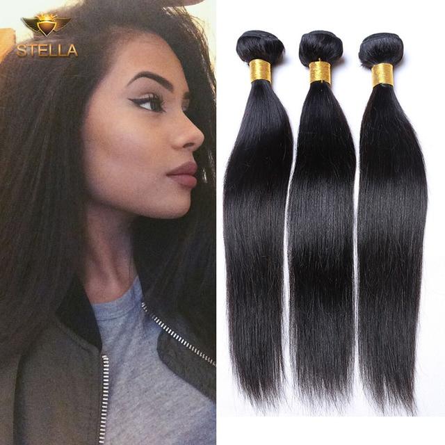 Luxy Hair Malaysian Virgin Straight Hair Bundles Cheap Human Hair
