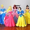 Brinquedos princesa 5 pçs/set Ariel Cinderela Branca de Neve Belle Aurora PVC Figuras de Ação para Crianças Presentes Meninas Brinquedos 14 cm KT082