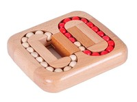 Classic IQ Wood Game Mind Brain Teaser Beads Wooden Puzzle For Adults Children