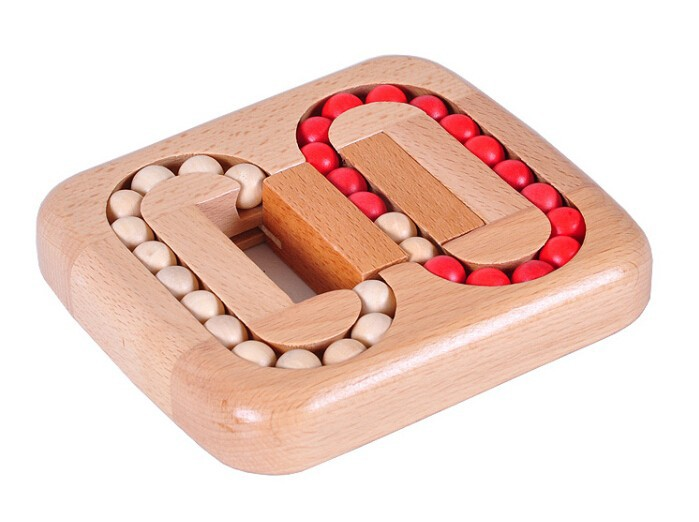 Classic IQ Wood Game Mind Brain Teaser Beads Wooden Puzzle for Adults Children classic peg solitaire solo noble puzzle iq mind brain teaser puzzles board wooden game toys for adults children