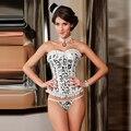 Espartilhos e Corpetes Overbust Sexy Slimming Cintura feminina Mulheres Corpo Corpete Corselet Top Branco Corset Corpete Gótico Steampunk