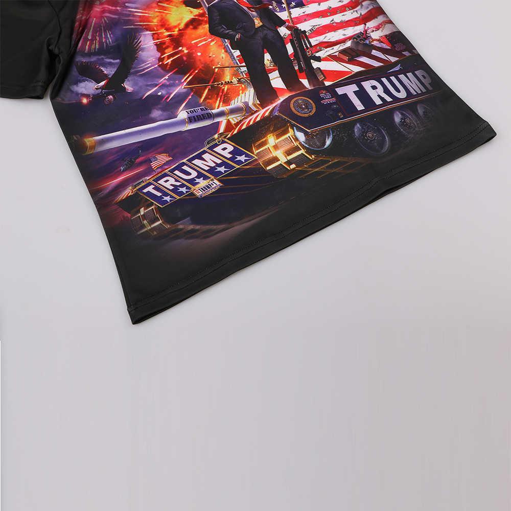 KYKU бренд Дональд Трамп футболка Америка черный США Футболка мужская Военная футболка война 3d футболка хип-хоп Мужская одежда модная одежда