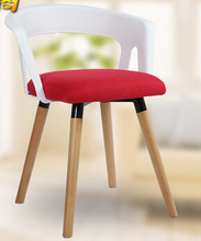 Leisure chair. Eat chair. Contracted solid wood plastic chairs.