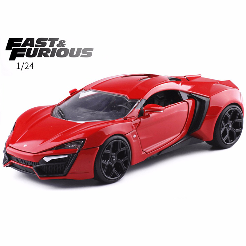 New Jada 1:24 FAST AND FURIOUS F8 Lykan Hypersport Diecast Model Car Toy For Baby Christmas Gifts Free Shipping fast shipping dc motor for treadmill model a17280m046 p n 243340 pn f 215392