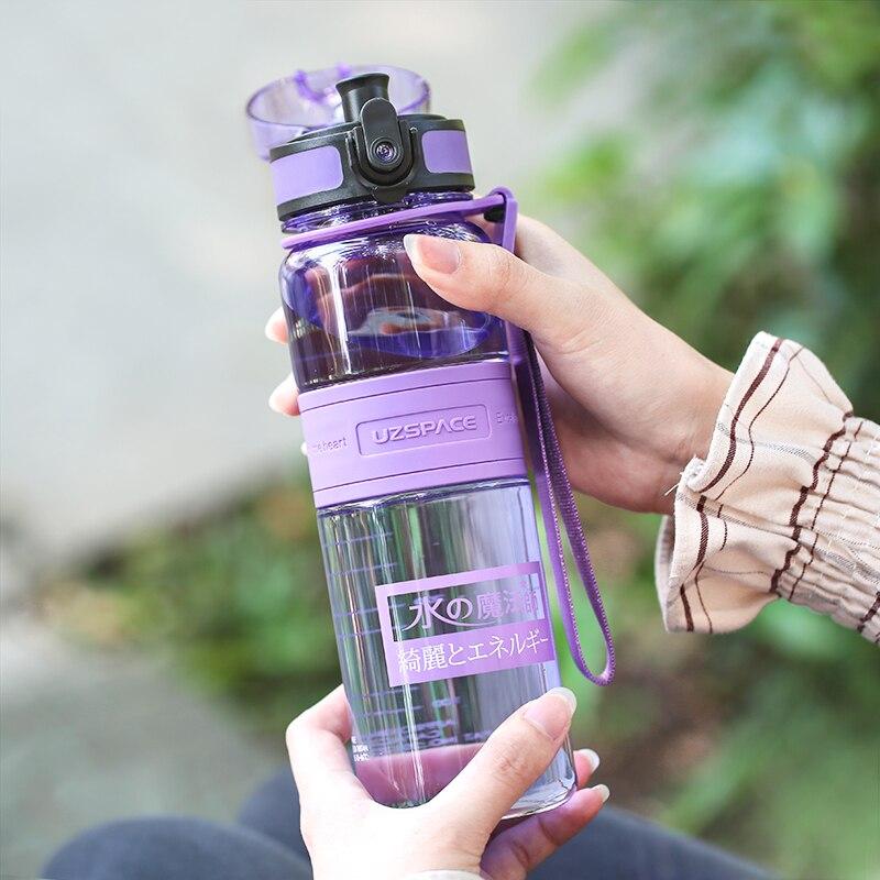 UZSPACE de iones negativos deporte botella de agua portátil de jugo de limón té de frutas Shaker mi botella de bebida de plástico Tritan capacidad 5 5 colores