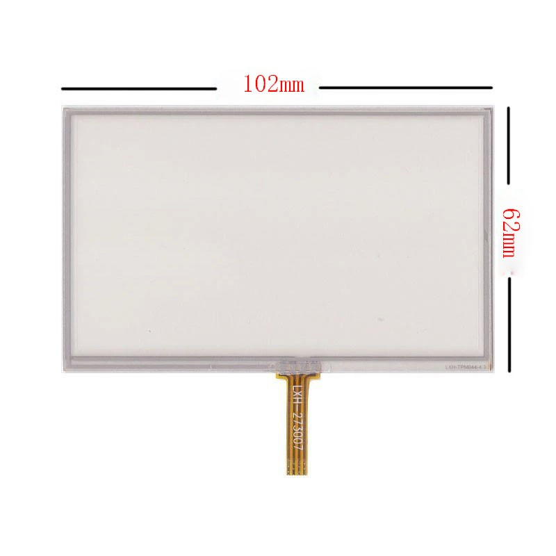 New 4.3 inch 4Wire Resistive Touch Panel Digitizer Screen For Oysters Chrom 1000 GPS Free shipping hot hothot sales colorful boys girls students time electronic digital wrist sport watch free shipping at2 dropshipping li