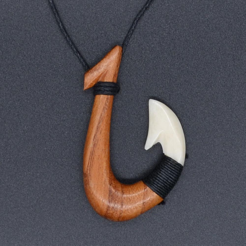 Əl ilə Əl Nişanlı NZ Maori Ox Sümüyü FISHHOOK KORU TÜRK - Moda zərgərlik - Fotoqrafiya 5