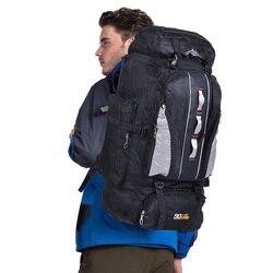 100L mochila de gran capacidad para deportes al aire libre hombres y mujeres bolsa de viaje senderismo Camping escalada bolsas de pesca mochilas impermeables