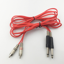 2pcs/ Lot Red Tattoo Clip Cords Tattoo Power Supply Clip Cord Cable For Rotary Tattoo Machines