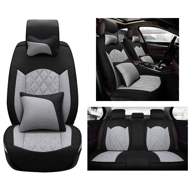cloth flax universal car seat cover set for opel astra antara zafira auto interior accessories. Black Bedroom Furniture Sets. Home Design Ideas