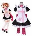 Anime LoveLive! el sol!! Kousaka Honoka Maid Vestido Cosplay Disfraces Tamaño S-XL