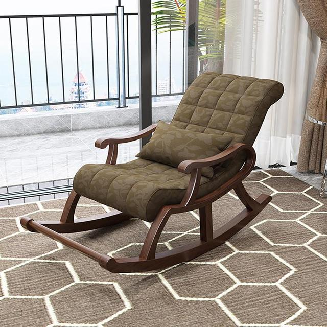 Luxury Solid Wood Rocking Chair Lazy Leisure Rocking Easy Chair