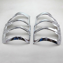 For Ford Ranger 2015 2016 ABS Chrome Car Auto Cover Styling Rear Lamp Cover Frame Trim 2pcs/set