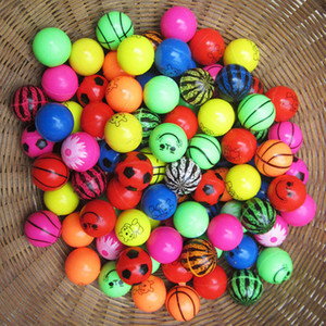 Image 3 - 5pcs 10pcs Different Mixed Bouncy Ball Solid Floating Bouncing Kids Elastic Rubber Ball Pinball Football Funny Toys For Children