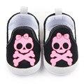 Zapatos lindos Del Bebé de Halloween Skull Pattern Print Primero Que Caminan Zapatos Inferiores Suaves Del Bebé Del Muchacho Ocasional 0-15 Meses