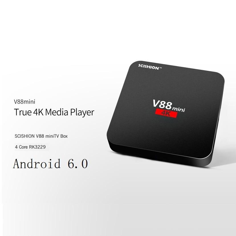 Original V88 mini TV Box RK3229 SCISHION 4 Core Android 6.0 1 GB y 8 GB Set-top