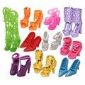 НК 10 пар Кукла Обувь Мода Cute Красочные Ассорти обувь для Barbie Doll with Different styles High Quality Детские Игрушки