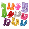 Nk 10 pares de zapatos de muñeca de moda lindo colorido surtido zapatos para barbie doll con diferentes estilos de alta calidad de bebé de juguete