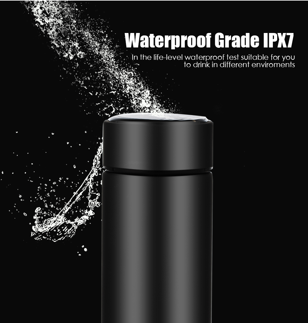 Temperature Display Vacuum Insulated Water Bottle