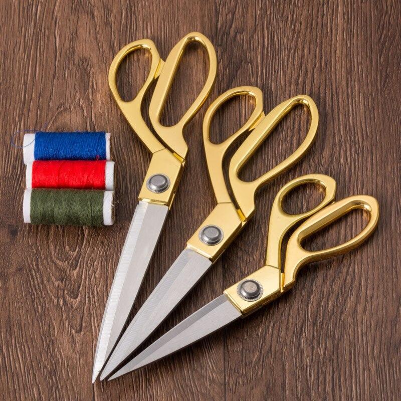 0df080831 Vintage Moderno Alta Quility Aço Inoxidável Lâmina Afiada Tesoura De  Costura Para Tecido Alfaiate Roupas Tesoura de Ouro Acessório