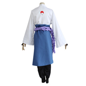 Image 3 - ナルトうちはサスケコスプレ衣装第三世代着物フルセット