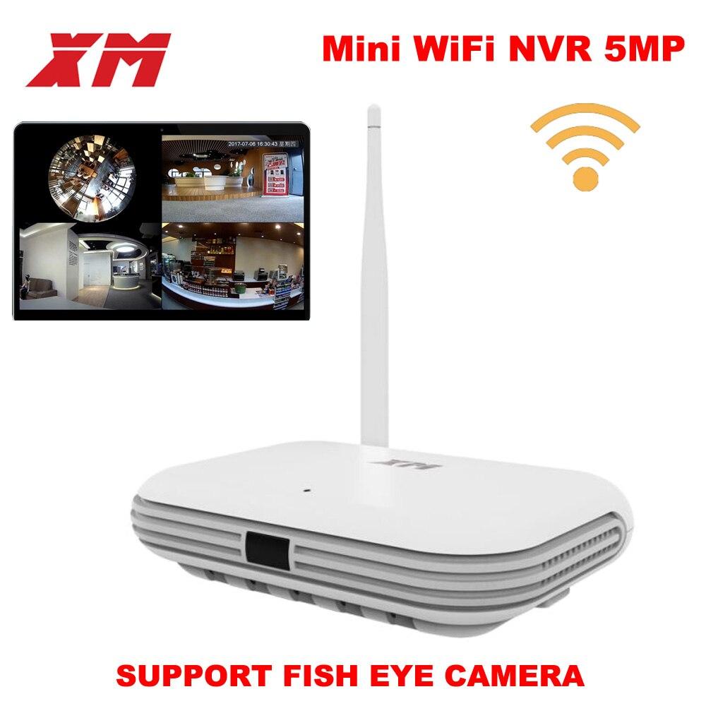 XM JPN1-W 5MP/4MP/3MP 360 degrés panoramique VR 4CH WIFI intelligente mini NVR soutenir ONVIF P2P sans fil caméra réseau IP