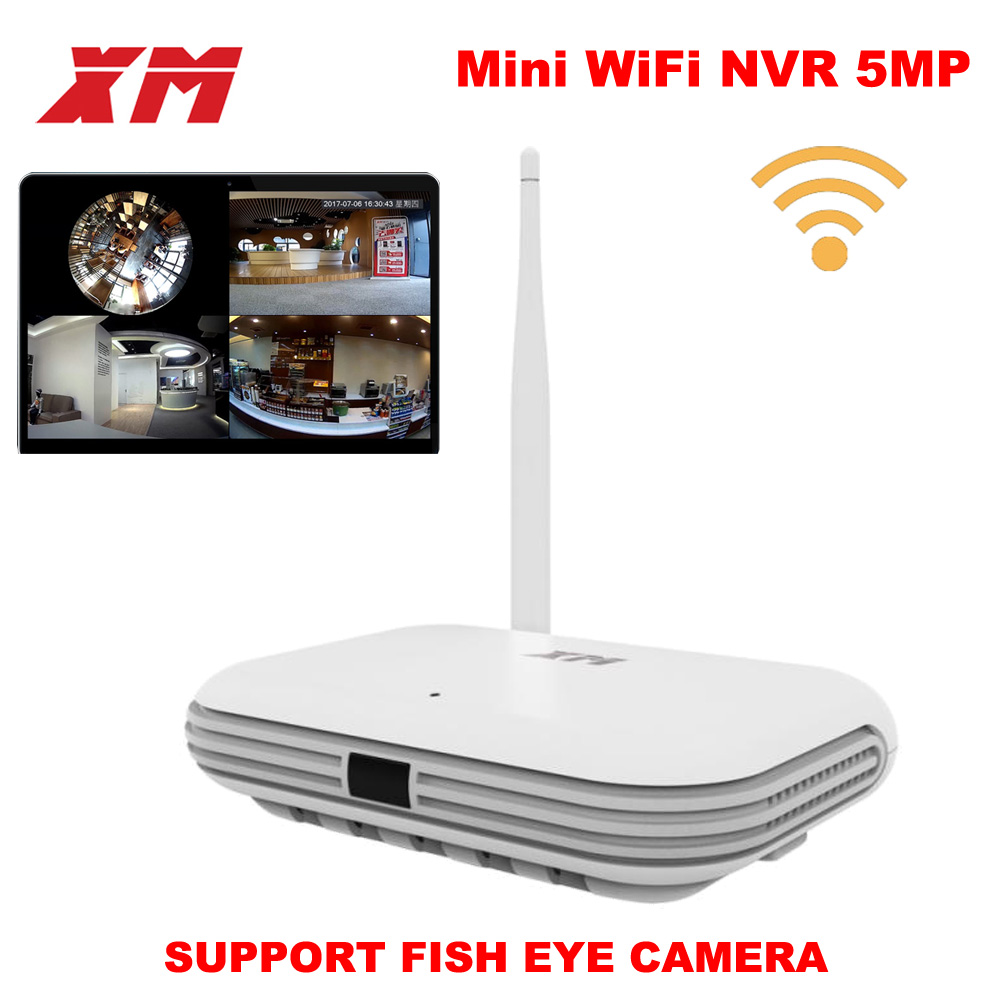 XM JPN1 W 5MP/4MP/3MP 360 degree panoramic VR 4CH smart WIFI mini NVR support ONVIF P2P wireless network IP camera