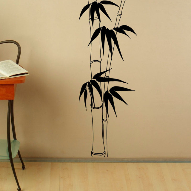 Bamboo Stalk Wall Sticker Vinyl Nature Fashion Style Wall Decals ...