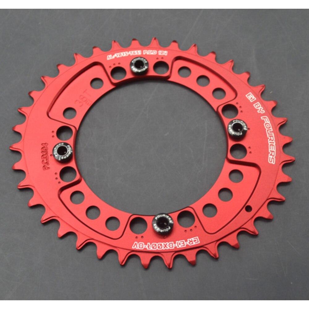 Fouriers 7075 Ovales Einzelkettenblatt 38T 40T 42T 44T 46T 48T - Radfahren - Foto 3