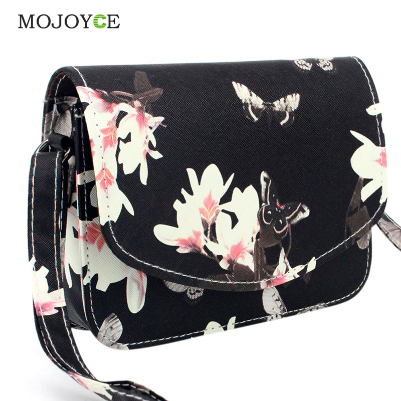 Fashion Floral Print Women Bag PU Leather Handbag Crossbody Bags for Women Messenger Bags Sling Shoulder Bags Bolsa Feminina Hot