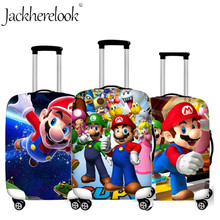Jackherelook Travel Accessories Luggage Protective Cover Cartoon Mario Sonic Print Elastic Trolley Suitcase Dust Case Protect худи print bar mario sonic