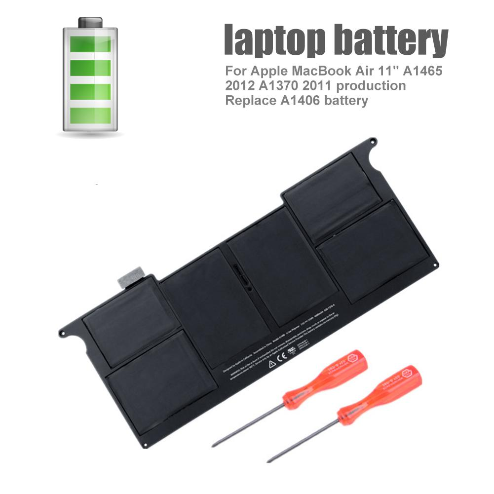 Nouveau A1406 Batterie D'ordinateur Portable Pour Apple MacBook Air 11 A1465 2012 A1370 2011 Production Remplacer Batterie