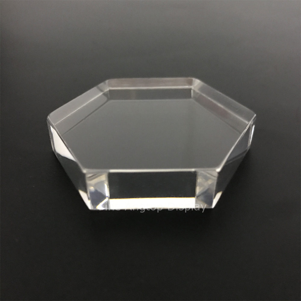 Modern Acrylic Hexagon Display Stands Multi Function Exhibition Trade Show Jewelry Store Plexiglass Block