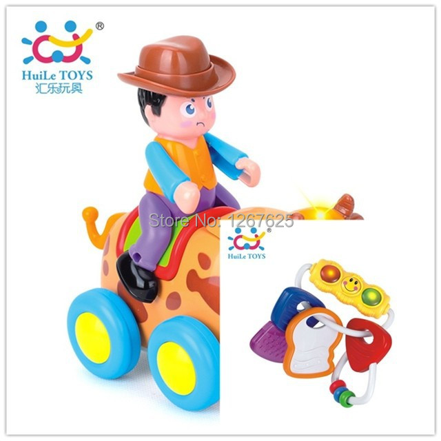 Chocalhos de bebê de Brinquedo para Bebe tourada eletrônicos Chocalho Bebe frete grátis Huile brinquedos 838B e 306E