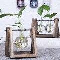 3 Tipos de Estilo Moderno Mesa de Vidro Planta Bonsai Flor Do Casamento Decorativa Vaso Com Bandeja De Madeira Casa Acessórios de Decoração