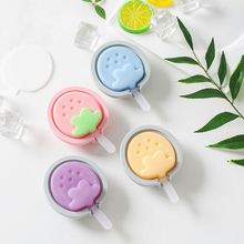 Ice Cream DIY Mold Makers Silicone Thick material Fruit Cartoon Molds Cube Chocolate Dessert Tray With Popsicle