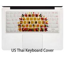 Тайская тайская силиконовая крышка клавиатуры для Apple macbook Air Pro retina 13 15 17 защитная кожа для mac book ноутбук пленка