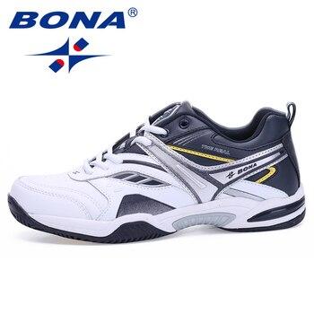 BONA New Classics Style Men Tennis Shoes Lace Up Men Sport Shoes Top Quality Comfortable Male